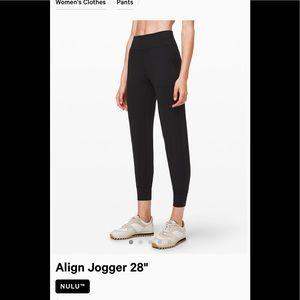🍋Lululemon new , align joggers black  size 4